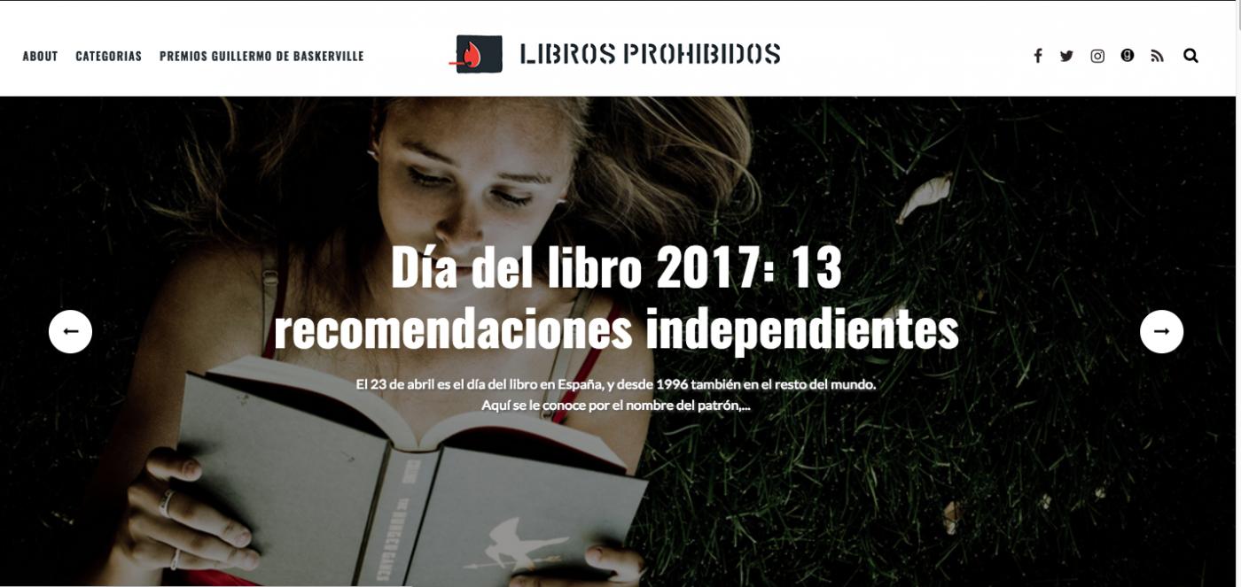 Libros Prohibidos estrena imagen y web. Javier Miró
