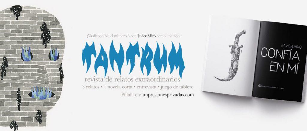 Revista Tantrum. Banner. Javier Miró