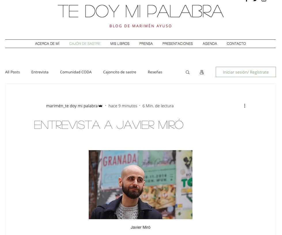 Entrevista en Te doy mi palabra. Javier Miró