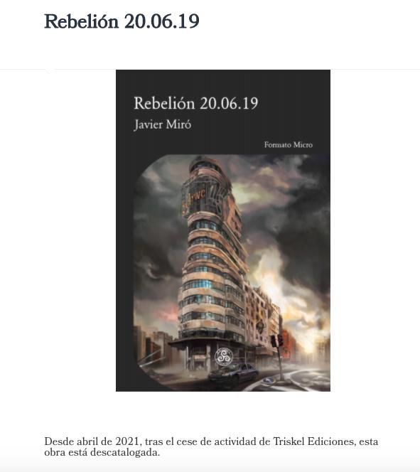 Rebelión 20.06.19 se queda sin casa. Javier Miró